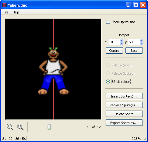 SLUDGE Sprite Bank Editor for Windows screenshot